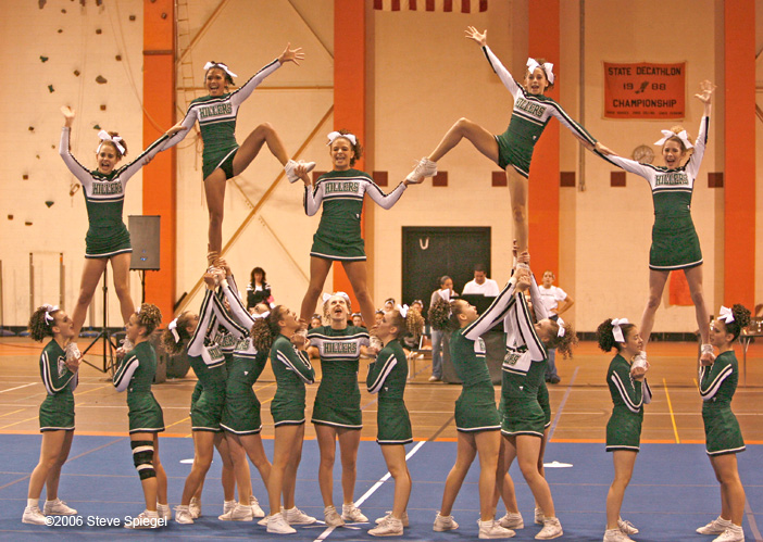 Girls Cheerleading South Championships at Taunton High School